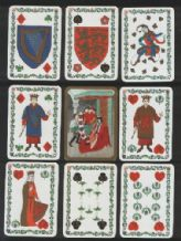 Collectible playing cards Medieval Heraldry